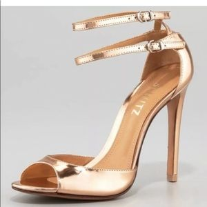 Schutz Imalia Rose Gold Stiletto Heels 10B